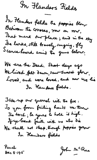 In Flanders Field - the iconic poem by