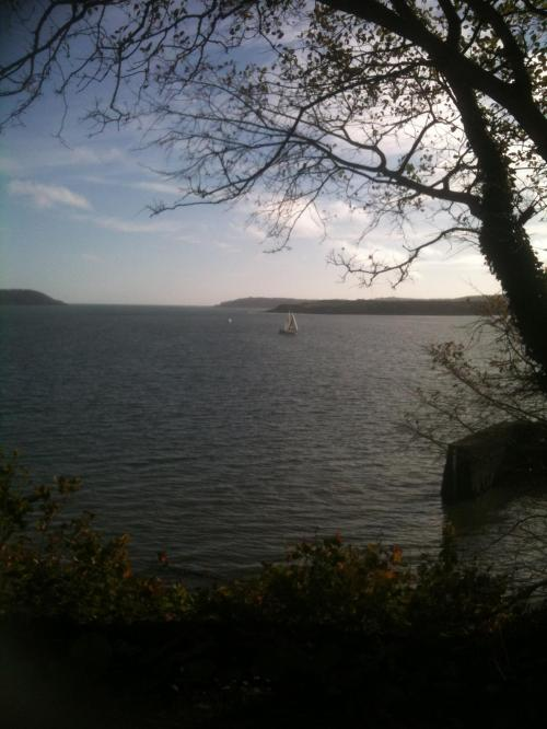 Mouth of Cork Harbour photographed from Cobh