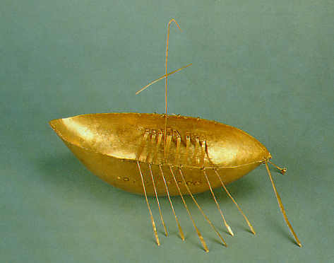 gold boat Celtic hoard