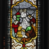 Detail from St Patrick's Window in the entrance hall