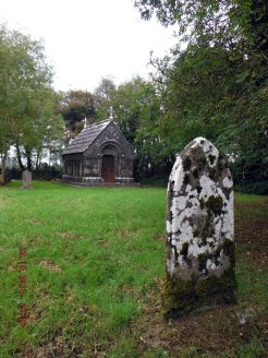 The lonely little churchyard does not have many graves