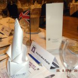 Place setting for UK Defence Attache