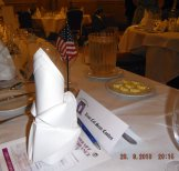 Place setting for U.S DefenceAttache