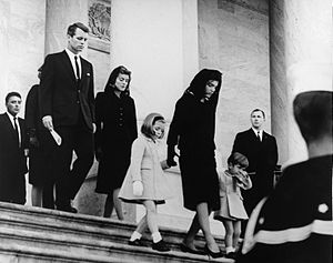 300px-JFK's_family_leaves_Capitol_after_his_funeral,_1963