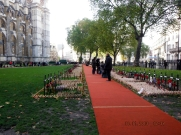 Plots in front of Westminster Abbey