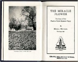 Moina Michael autobiography, The Miracle Flower. Picture from Amazon.com