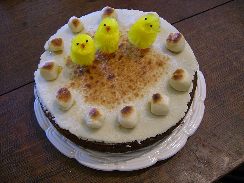 Simnel Cake - a very old Mothering Sunday custom . Image Commons.Wikimedia.