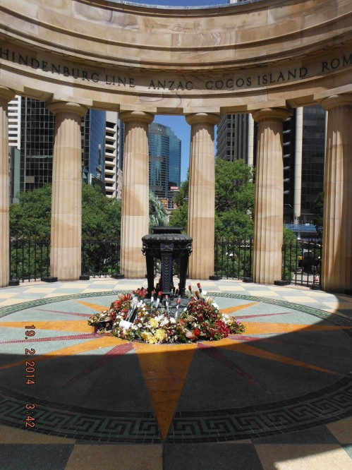 The Eternal Flame at ANZAC Square Brisbane