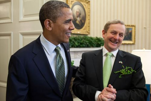 An Taoiseach Enda Kenny with President Barack Obama in The White House (Wikipedia)