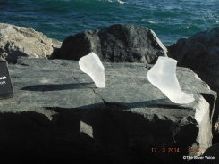 tiptoeing on rocks