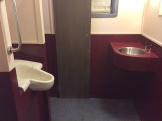 The toilet areas