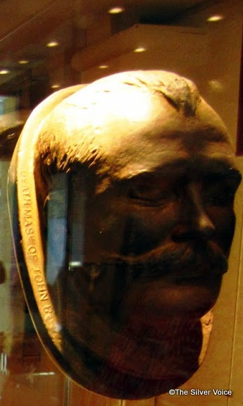 Deathmask of John Boyle O'Reilly . A replica presented by the National Museum of Ireland