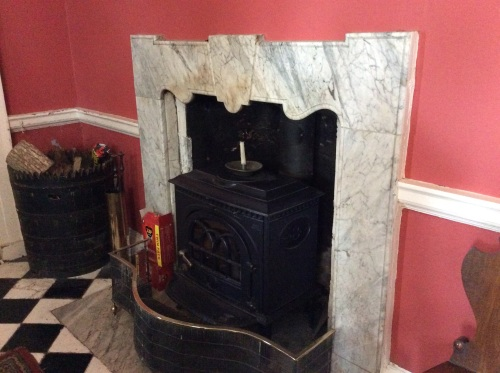 An original fireplace - without a mantel