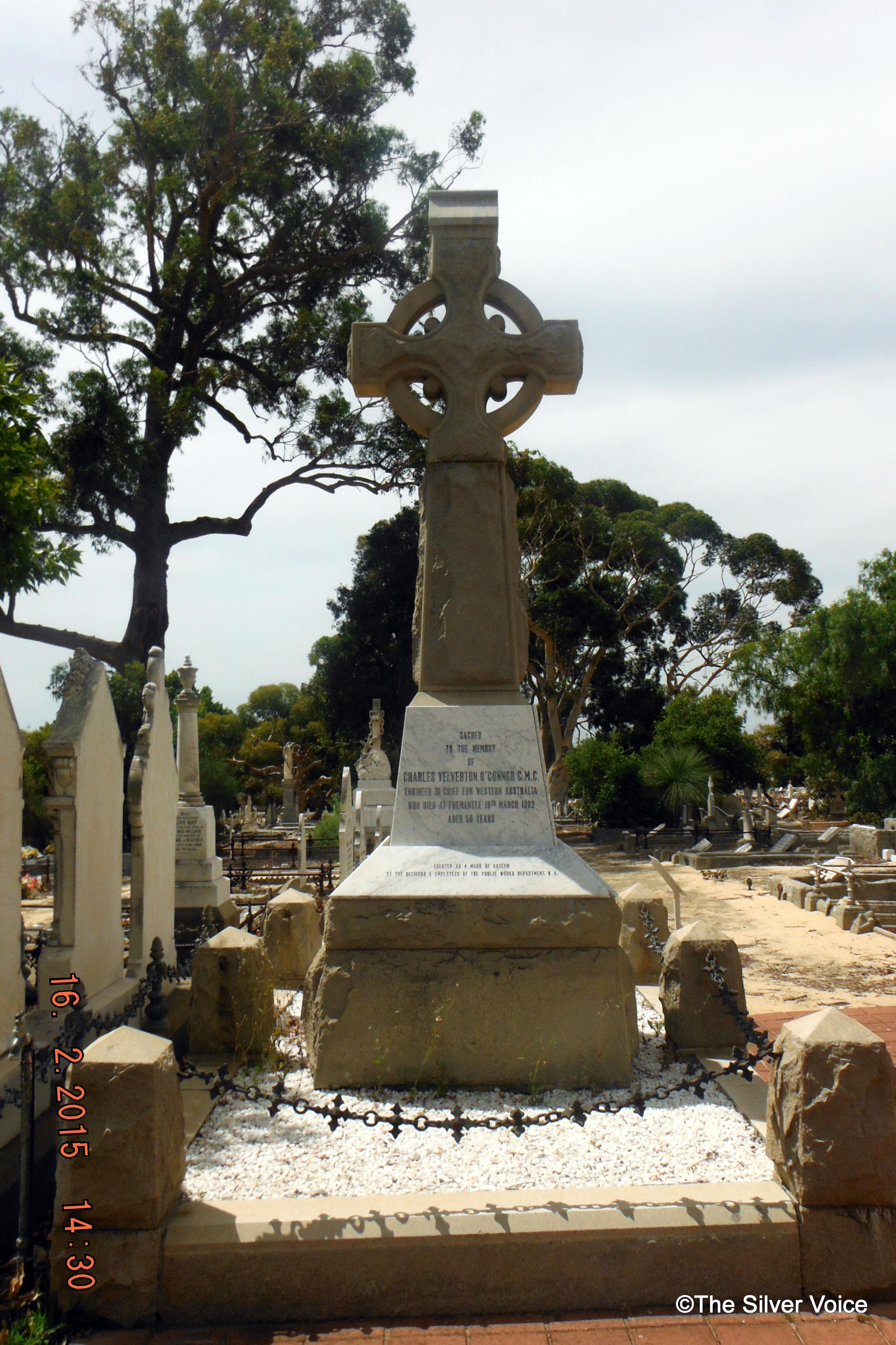 The grave of Charles Yelverton O'Connor, proud Irishman