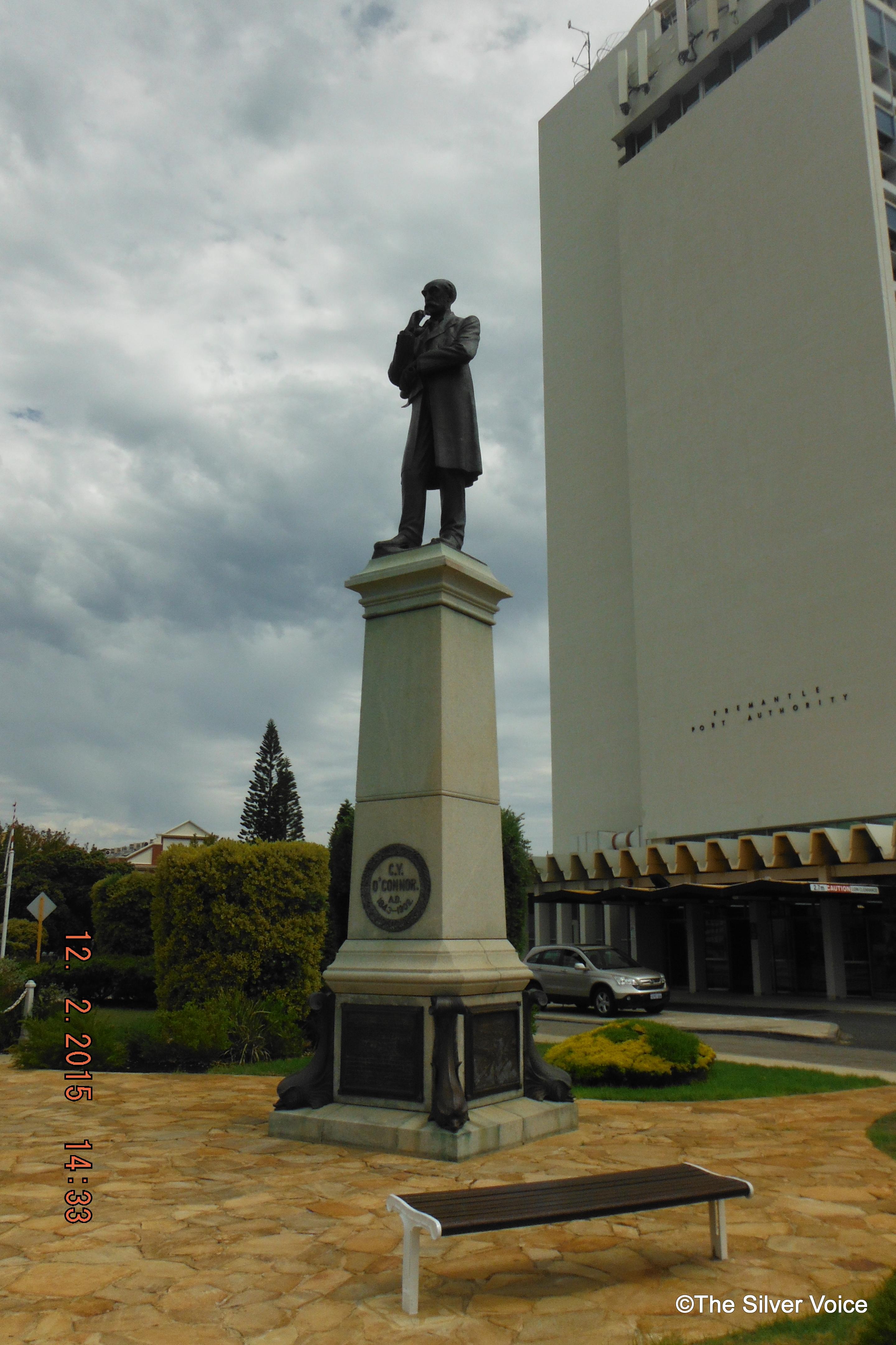 C.Y.O'Connor statue at entrance to Fremantle Port