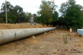 Part of the pipeline beside Mundaring Hotel