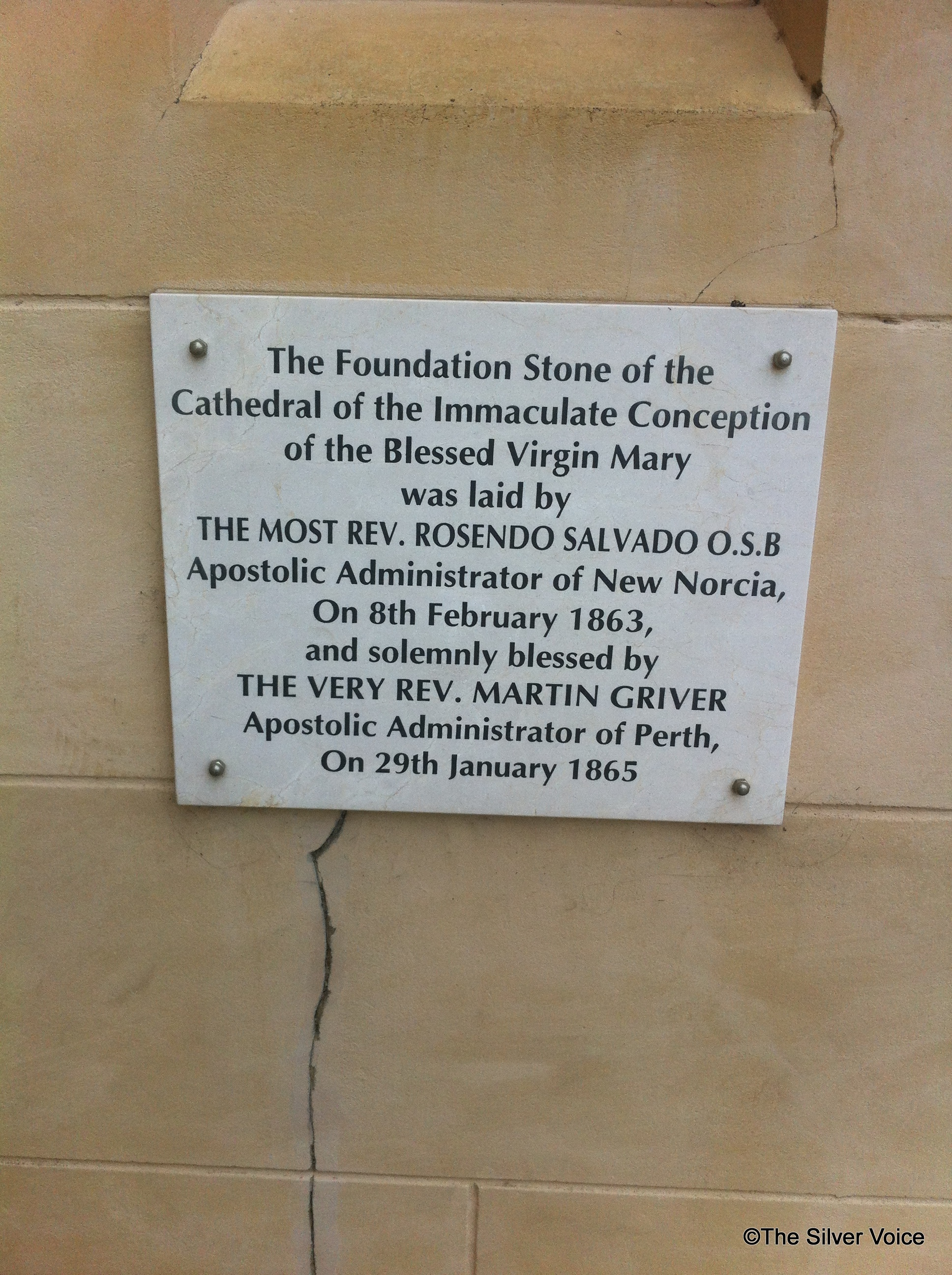 The foundation stone of the original structure