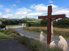 Crucifixion scene on the road frontage