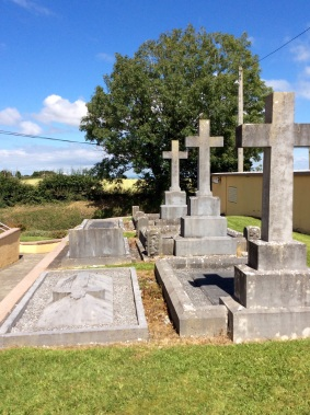 The only burials in church grounds are clerics
