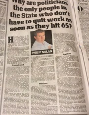 Philip Nolan of Irish Daily Mail on forced retirement in Ireland