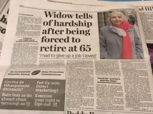 From the Irish Daily Mail Thursday November 19 2015 by Leah McDonald