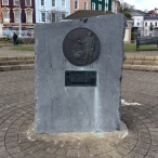 Memorial to Robert Forde Antarctic explorer who served with Scott on the Terra Nova.