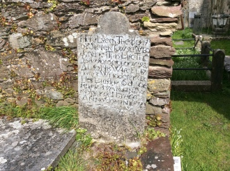The oldest headstone