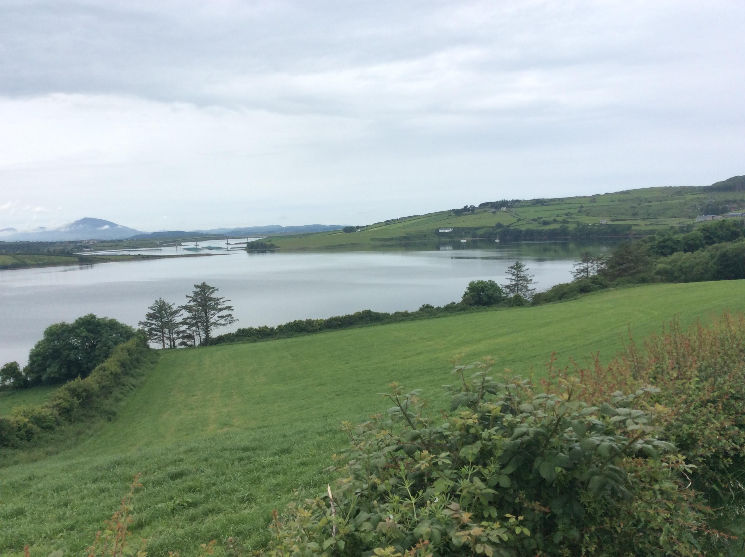 A bridge links Rosguill and Fanad peninsulas