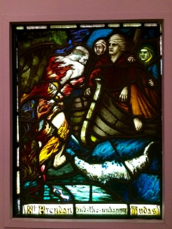 Harry Clarke's St Brendan and the unhappy Judas