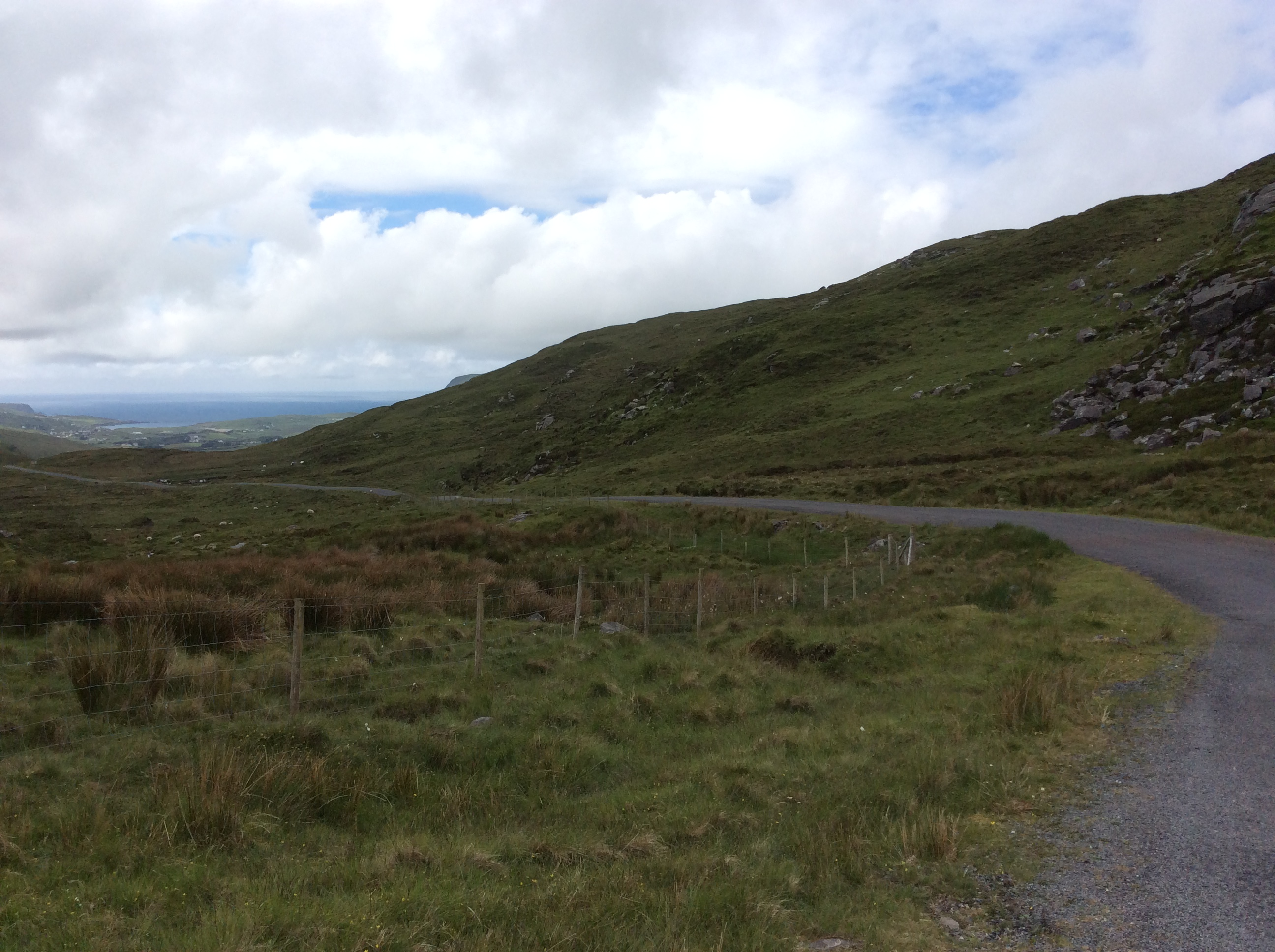Glencolmcille at the end of the valley