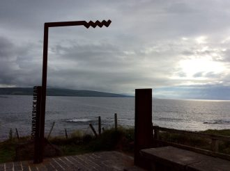 The Wild Atlantic Way sign at Downpatrick Head Carpark