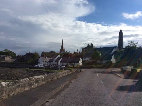 Killala Round tower and church