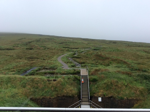 Steps leading to the Heart of the Céide Fields.