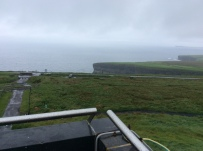 There is a viewing are for the cliffs below, but not for me today!