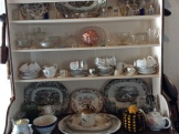 Bowls and plates displayed