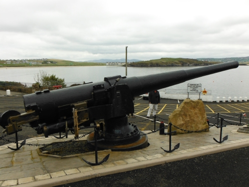 A gun recovered from the wreck of the Laurentic. Sited at Downings Pier in County Donegal.