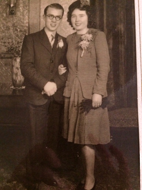 The happy couple, on this day 71 years ago