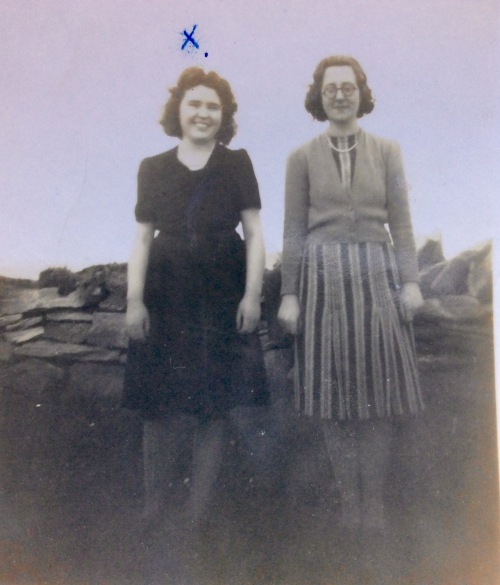 Mum and another lady at Port na Blagh Dunfanaghy on Whit Sunday 1944.