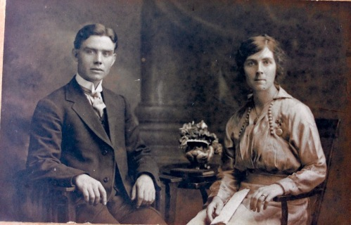 Marriage portrait of our grandparents JD Gallagher and Mary Friel