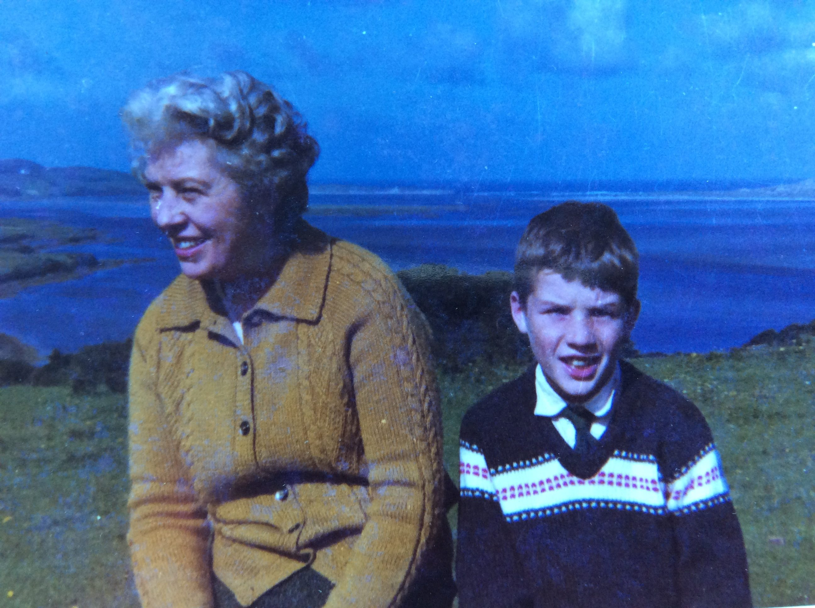 Di at paternal family home in Mulnamina Glenties in the 1960s with our brother Damian.