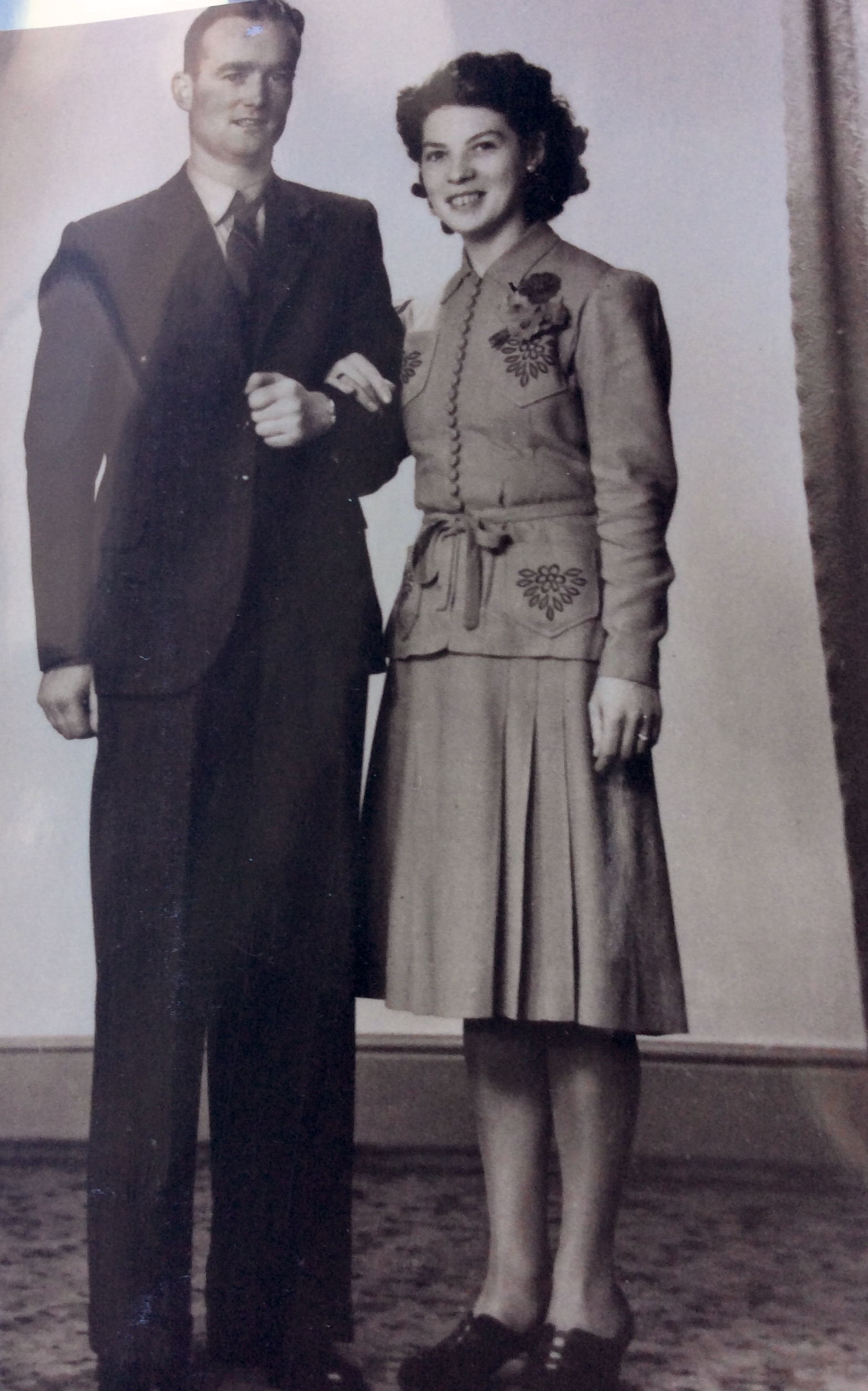 The tall dark and handsome Hugh Coyle of Milford and Di were married in 1945