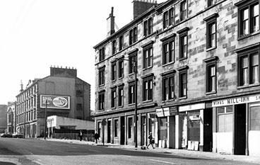 Pollokshaws Road with tenement flats