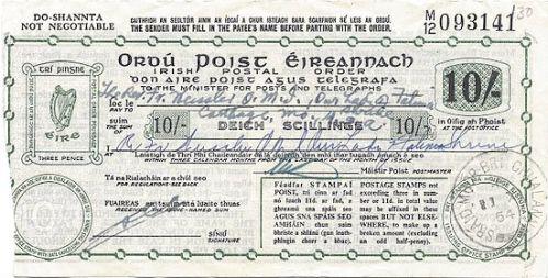 550px-Postal_Order_Ireland_10_shillings_1954