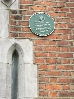 Plaque on Leamy School, Limerick