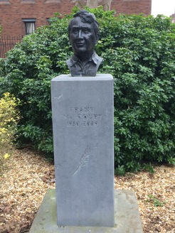 Bust of the author Frank McCourt