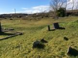 Plain stone grave markers